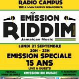 "Emission RIDDIM ""15 ANS"" 21 septembre 2015"