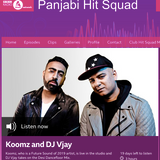 BBC Asian Network - DJ Vjay's Desi Dancefloor Guest Mix on Panjabi Hit Squad's show (May 2019)