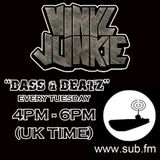 "VINYL JUNKIE - ""Bass N Beats"" - Sub.FM 8th Jun 2012 (Special Guest Digitally Mashed)"