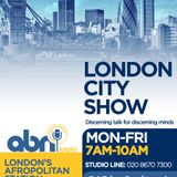 Janet Hills, MetBPA and Orin Lewis, ACLT on London City Show with Queen Naa Tsotsoo Soyoo I