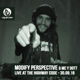 Modify Perspective & MC Y Dott - Live At THC Presents Hybrid Minds - The Crofters Rights - 30.09.16