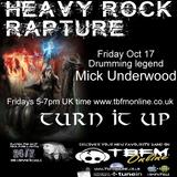 Heavy Rock Rapture Oct 17 Feat former Gillan drummer Mick Underwood