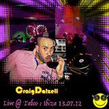 Craig Dalzell Live @ Taboo : Ibiza 13.07.12 [On 3 Turntables]