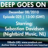 Deep Goes On 025 with Sebastian Davidson