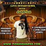 JAHFRICA LIVE INTERVIEW WITH DJ JAMMY ON ZIONHIGHNESS RADIO 032718