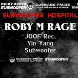 Roby M Rage at Subwoofer Hospital November 2018 on CUEBASE-FM