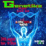 GENETIKZ WITH MADDA LIVE AT CODE RED RADIO 24-8-19