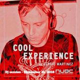 "Sergio Martínez presents ""Cool Experience""- NUBE MUSIC Radio - Dj session - November 14, 2018."