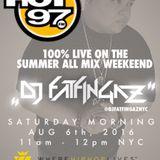 DJ FATFINGAZ LIVE ON HOT 97 AUG 6TH, 2016