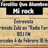 Faro en las calles entrevista a Pirámide Zulú el día Miércoles 4 de Febrero 2015 por Radio Faro 90.1