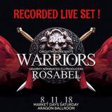 Rosabel Recorded Live Set - Warriors/Market Days Chicago 2018