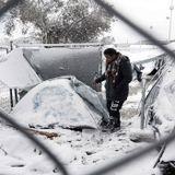 Kallt  i grekiska flyktingläger