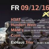 H3AT's Warm Up @ Affected at Exhaus/Trier 09.12.2016 (Little recording Bug at 03:25min)