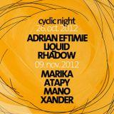 Xander at Cyclic Night @ Kasho Club Brasov (live recording 09.11.2012)