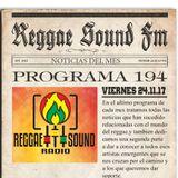 194º Programa ReggaeSoundFm 24.11.17