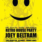 dj Franky Jones @ Fuse - Retro house party 16-01-2015