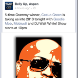 New Years Eve 2013 Opening for C-Lo Green @ Belly Up Aspen CO