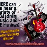 Friday night Radio Variety Show with DJ Readman: Drag, A Mouth Full of Matches, Temple Black and mor