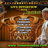 AJAHFARI LIVE INTERVIEW WITH DJ JAMMY ON ZIONHIGHNESS RADIO 022018