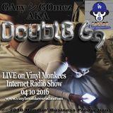 GAry シ GOmez AKA Doubl3 Gg - LIVE on Vinyl Monkees Internet Radio Show 04 10 2016
