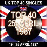 UK TOP 40 19-25 APRIL 1987
