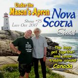 Under the Mason's Apron Folk Show #75 late October 2017