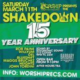 Blueshift - Shakedown 15 Year Anniversary at The Barbary Philadelphia March 11th 2017