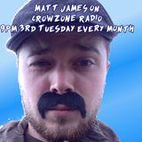 Matt James on CrowZone Radio - Oct 2016