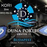 Kori live @ Duna Poker Center, River Bar 2017.09.15.