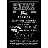 @DJMYSTERYJ #TheCrankTape 5 - Reunion 21/11 @MyystBirmingham