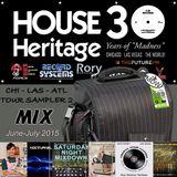 #HOUSEHeritage30 CHI Tour Sampler (June-July 2015)