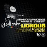 LIONDUB - 03.02.16 - KOOLLONDON [JUNGLE D&B PRESSURE + SKIBADEE INTERVIEW]