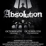 ABSOLUTION FEST FRIDAY October 4th at Crowbar, Tampa, FL USA