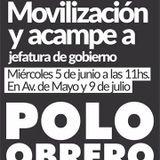 Movilizacion y acampe - Polo Obrero