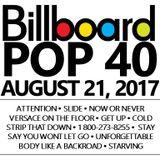 BILLBOARD POP 40 (clean) 8-21-2017