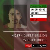 NiCe7 - Underground Sounds Of Italy Guest Mix