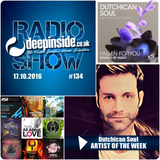 DEEPINSIDE RADIO SHOW 134 (Dutchican Soul Artist of the week)