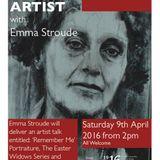 2016 04 06  Caren Hardiman from Athlone's Luan Gallery talks about Ask the Artist Emma Stroude