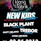 [TREBOR] - NEW KIDS TECHNO @ Klangfabrik Viersen 02.06.2012