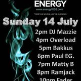 Dj Bakkus Energy 1058 radio show 14/7/19