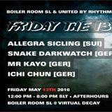 BOILER ROOM SL + United by Rhythm Collaboration friday may 13th - Allegra Sicling