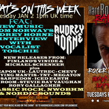 Hard Rock Hell Radio - Heavy Rock Rapture -  Jan 2 2018 feat Audrey Horne interview & new tracks