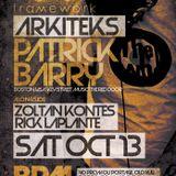 Patrick Barry Live at Framework at BPM Nightclub - Ottawa, Ontario 10.13.12