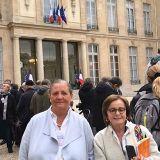 Emanuel Macron ,presidente  de Francia, llega al palacio del Eliseo para  la transferencia de mando.