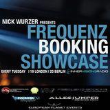Frequenz Booking Showcase guest  Zak Gee 05.03.2013