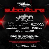 Will Atkinson - Live @ Subculture, Digital Society, Leeds UK (07-NOV-2014)
