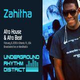 Afro House mix by Zahitha, WPRK 91.5 FM, Orlando, FL, Underground Rhythm District, 06FEB16