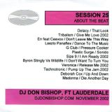 Session 25-About The Beat-DJ Don Bishop November 2002