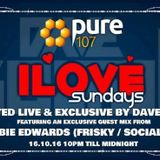 Dave Boulton - iLove Sunday's Feat. Guest Mix From Robbie Edwards Live On Pure 107 16.10.2017