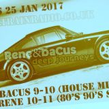 Rene & Bacus LIVE Deep Journey Radio Show Pt 5 25th JAN 17 House Techno Deep Soul Funk 80's 90's